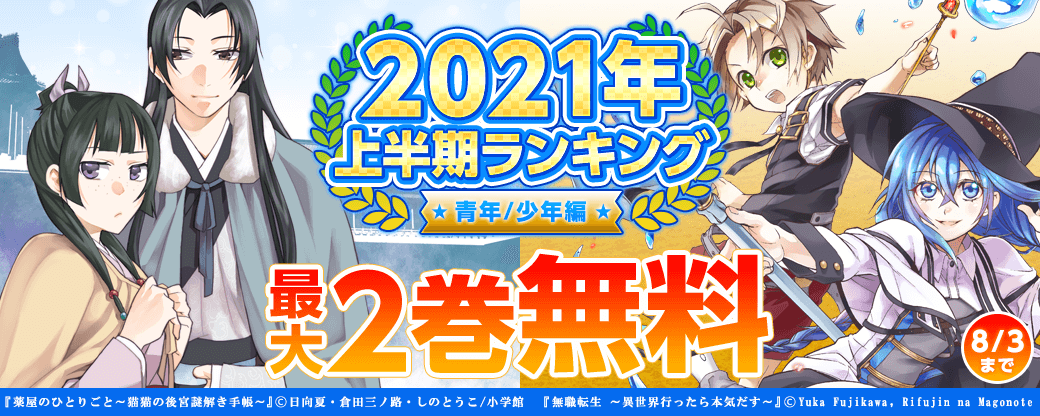 2021年上半期ランキング(青年/少年編)